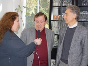 Straordinario incontro a Stoccarda con l'icone della musica, Battisti D'Amario e Giovanni Trovalusci