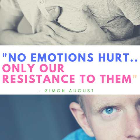 No Emotions Hurt.. Only our resistance to them