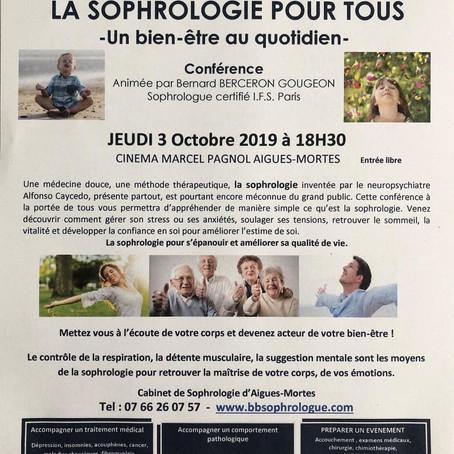 Conférence: LA SOPHROLOGIE POUR TOUS, un bien-être au quotidien  Animée par Bernard BERCERON GOUGEON