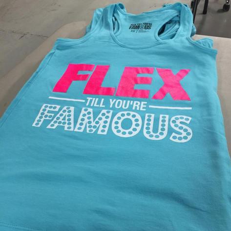 Flex till you're famous athletic wear.