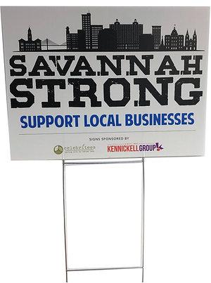 Savannah Strong Yard Sign