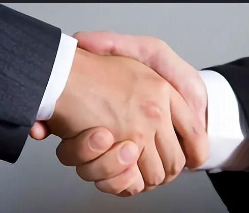 hand to hand shaking