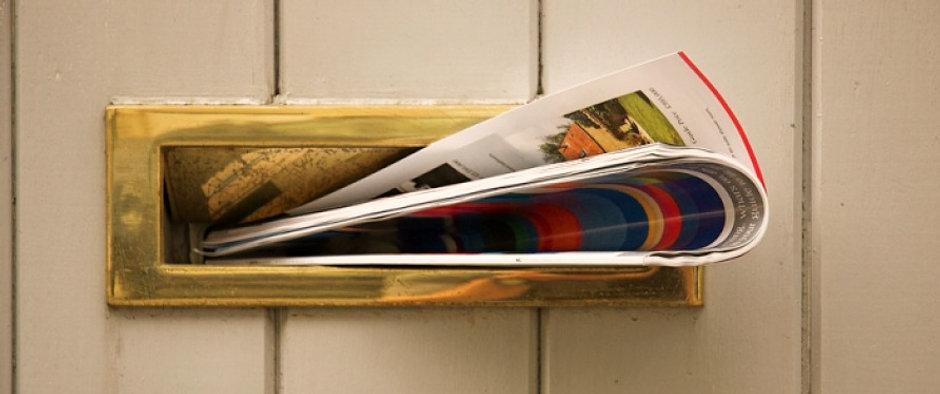 Leaflets through door post
