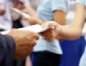 hand to hand leaflet distribution