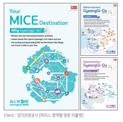 마이스 영역별 영문 리플렛