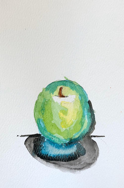 APPLE WATERCOLOUR