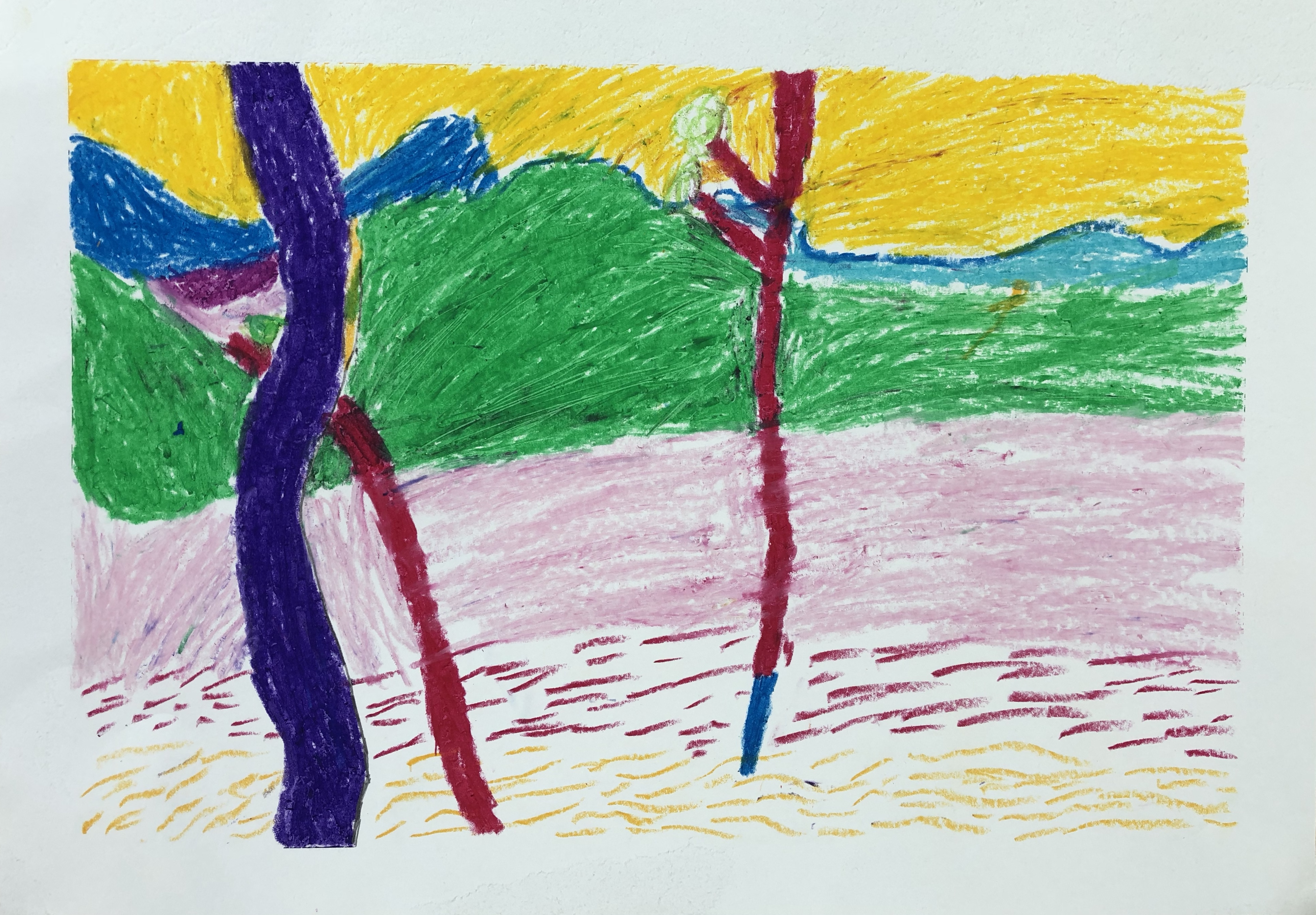 Andre Derain Trees Oil Pastels