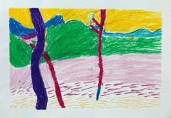 Andre Derain Trees Oil Pastels