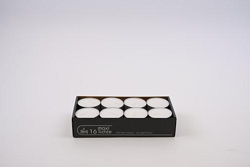 Maxi Teelichter weiß