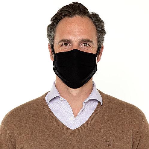 Mund-Nasen-Maske Bio Baumwolle Schwarz