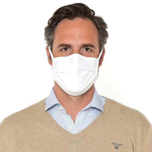 Mund-Nasen-Maske Bio Baumwolle Weiß