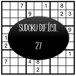 Sudoku Difícil - 27