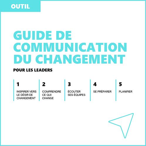 Guide de communication du changement pour les leaders - Outil