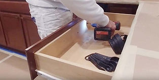 Removable-drawer-front-being-disassemble
