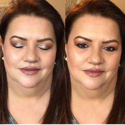Full face makeup / No lashes