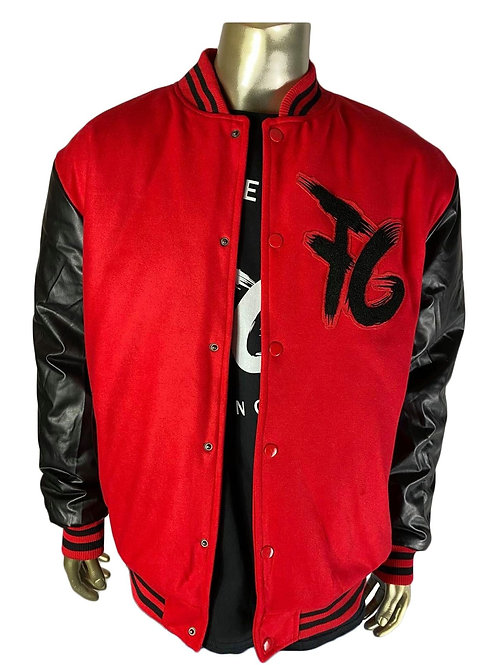 Red & Black FG Varsity Jacket