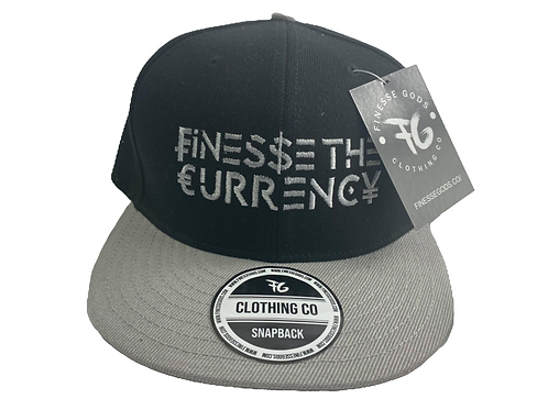 Black & Gray Finesse The Currency Snapback