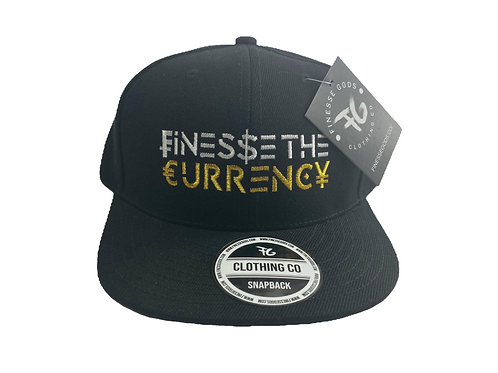 Black & White Finesse The Currency Snapback