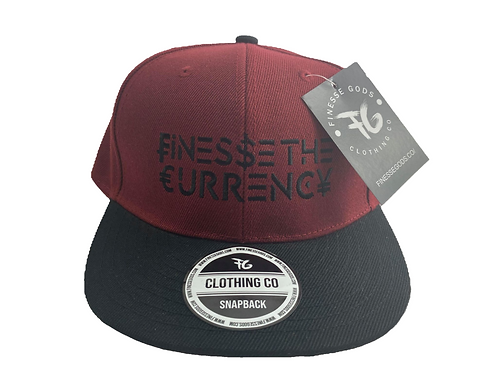 Burgundy Finesse The Currency Snapback