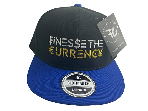 Blue & Black Finesse The Currency Snapback