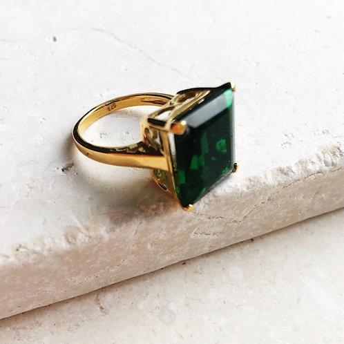 Claudia Ring Emerald Green Hydro