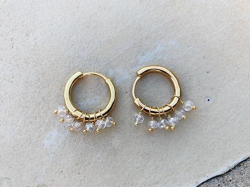Huggie Earrings Crystal Clear