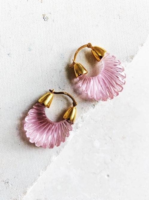 Ettienne Soft Pink Ridged Earring