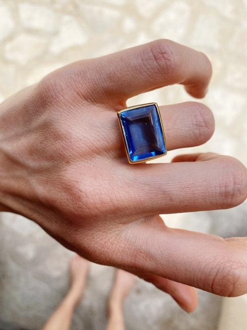 Lenny Ring Dark Blue Hydro