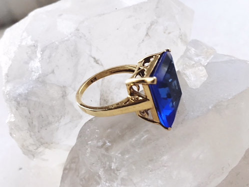 Claudia Ring Dark Blue Hydro