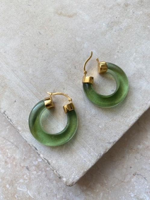 Aura Hoops Soft Green