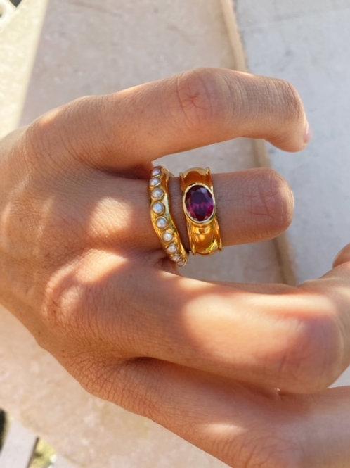 Juniper Ring Ruby Red