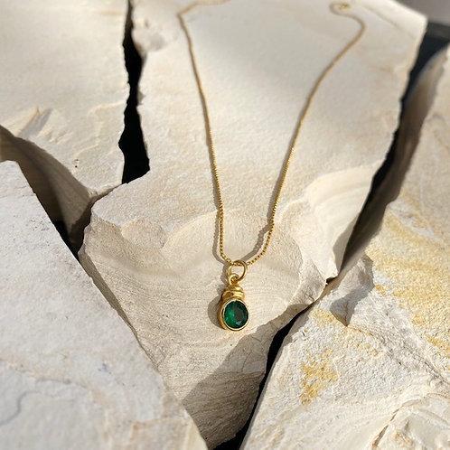 Estelle Necklace Emerald Green