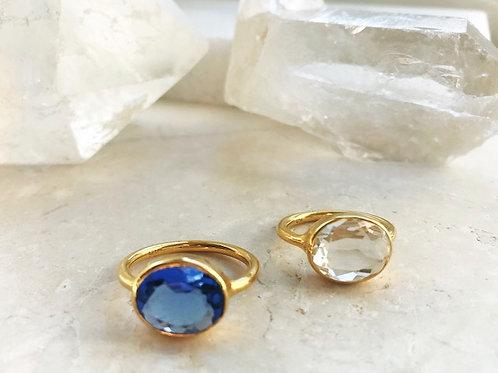Oval Ring Crystal Quartz