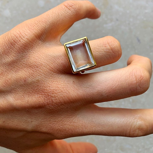 Lenny Ring Crystal Clear