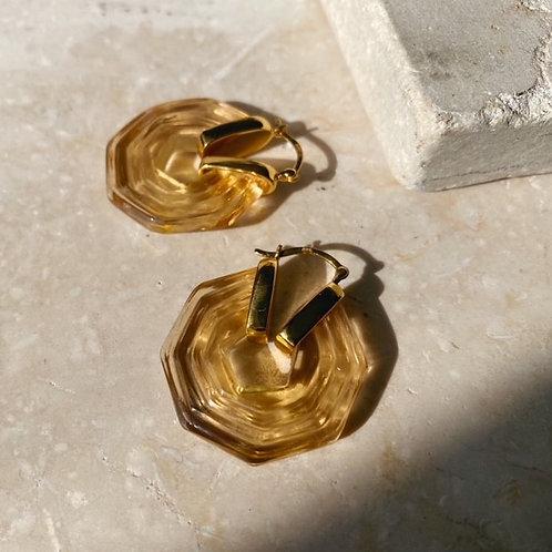Sphinx Earrings Champagne