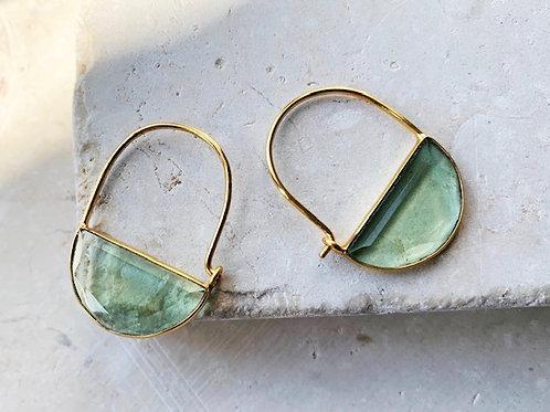 Imogen Earrings Mini Soft Green