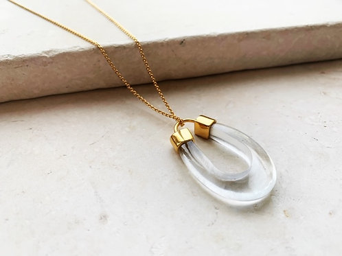 Mae Necklace Crystal Clear