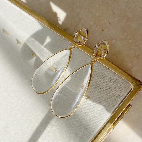 Nancy Earrings Crystal Clear