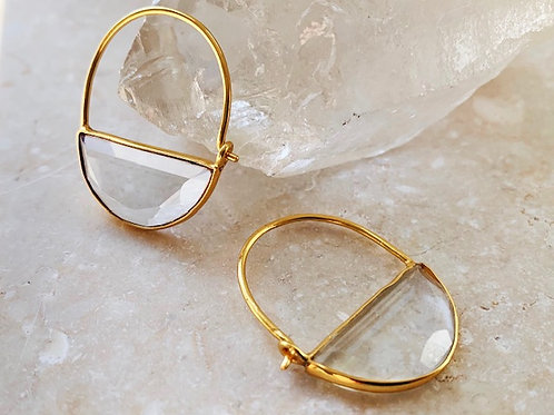 Imogen Earrings Mini Crystal Clear