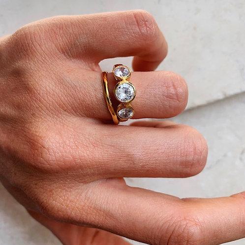 Nadine Three Crystal Ring