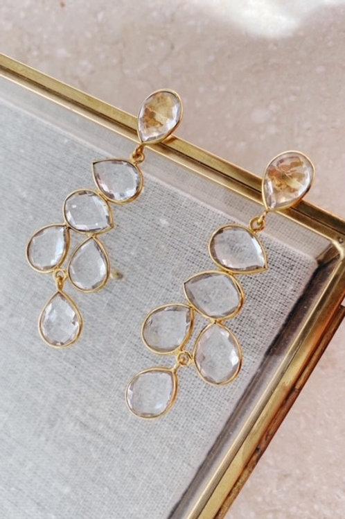 Sheena Earrings Crystal Clear
