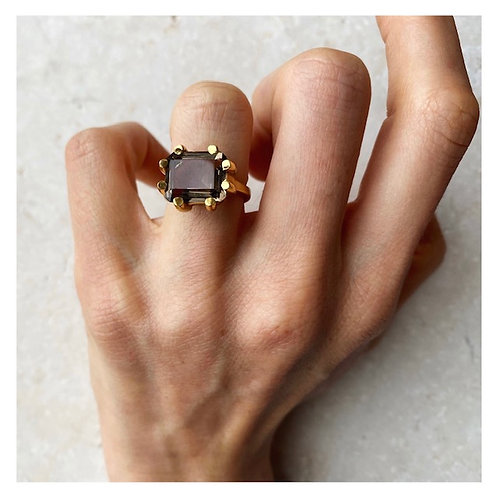 Square Claw Ring Smoky