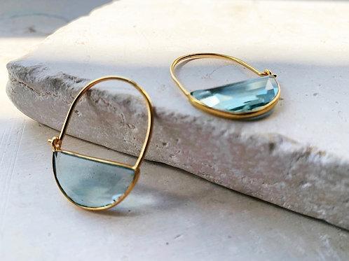 Imogen Earrings Mini Soft Blue