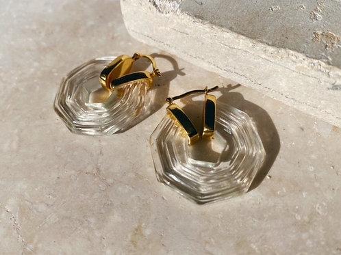 Sphinx Earrings Crystal Clear