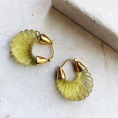 Ettienne Lemon Ridged Earring