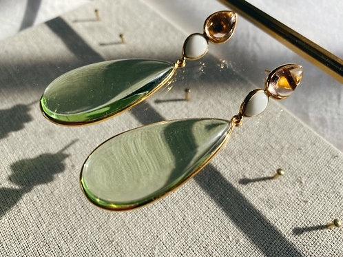 Perrin Earrings Soft Green