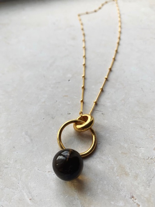 Layla Smoky Ball Necklace