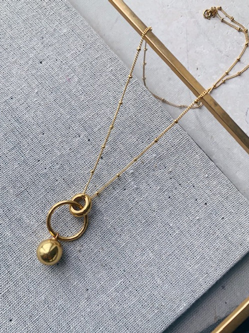 Layla Solid Ball Necklace