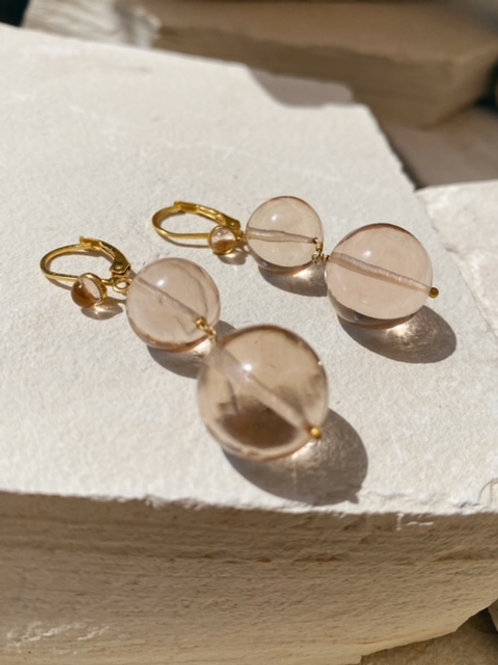 Pernille Pearl Earrings Soft Champagne