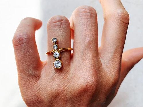 Santi Four Tier Crystal Ring